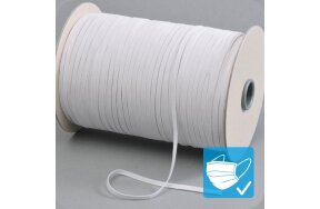 ELASTIC FLAT CORD WHITE 5 mm (REEL 180 m)